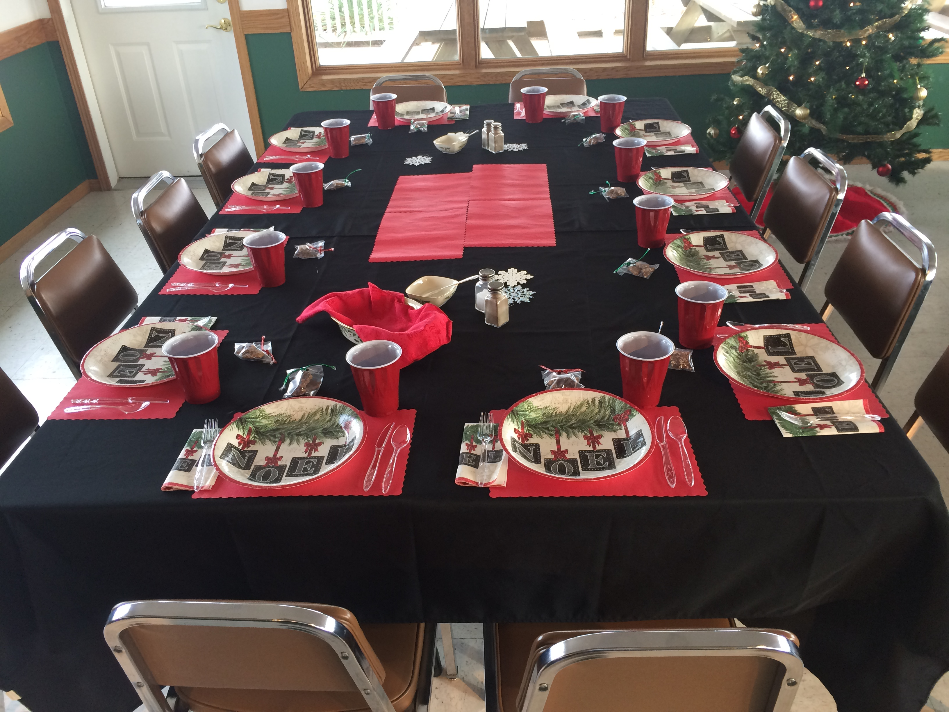 table set up for a party